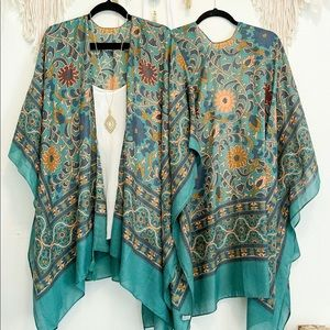JADE Lightweight Moroccan Floral Kimono